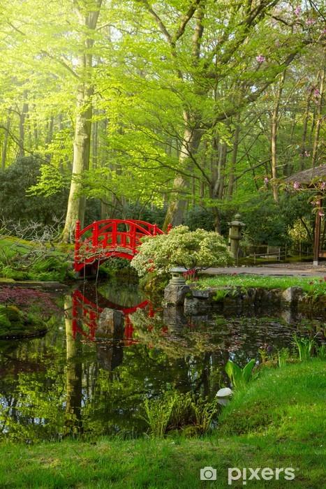 Naklejka Pixerstick Ogród japoński z mostkiem - Cuda natury