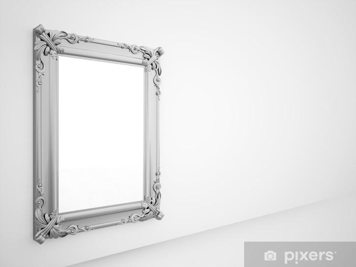 Fototapete spiegel mit vintage silberrahmen pixers wir leben um zu ver ndern - Kuchenspiegel mit fototapete ...