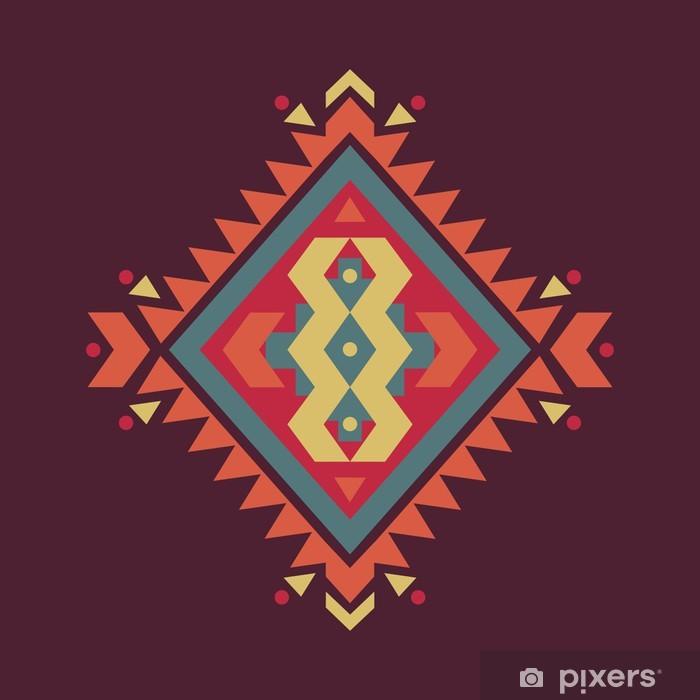 Plakat Wektor kolorowe etniczne wzór dekoracyjny - Style