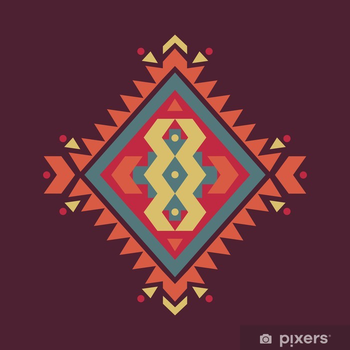Vector colorful decorative ethnic pattern Poster - Styles