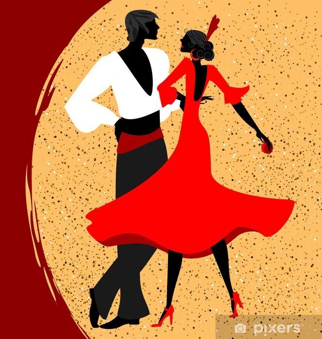 Vinilo Pixerstick Pareja de bailarines de flamenco - Temas