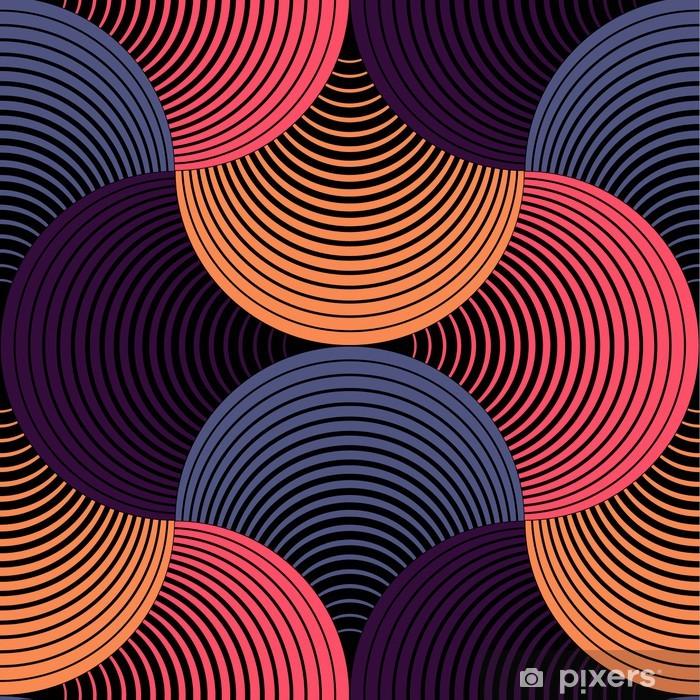 Sticker Pixerstick Ornement géométrique pétales Grille, Abstract Vector Seamless Pattern - Thèmes