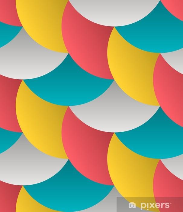 Mural de Parede em Vinil Ornate Geometric Petals Grid, Abstract Vector Seamless Pattern - Temas
