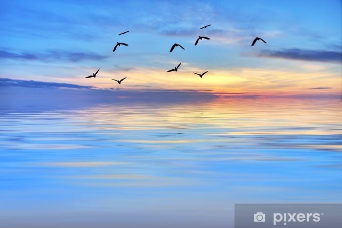 Fototapeta winylowa Godzina na morzu niebieski - Wakacje