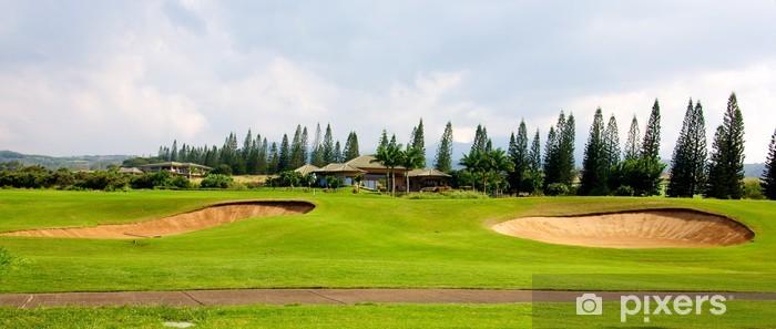 Sticker Pixerstick Golf à Hawaii - Sports individuels