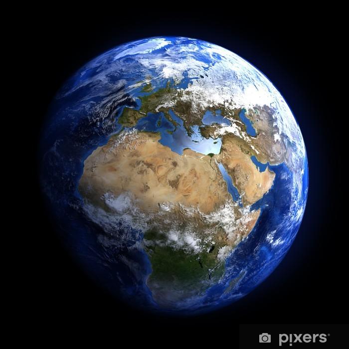 Fototapeta winylowa Ziemi z przestrzeni pokazano w Europie i Afryce. - Dla nastolatka