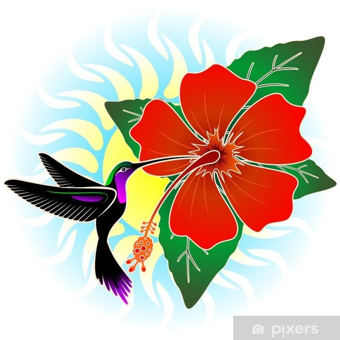 Fototapete Hummingbird Und Red Hibiscus Pixers Wir Leben Um Zu