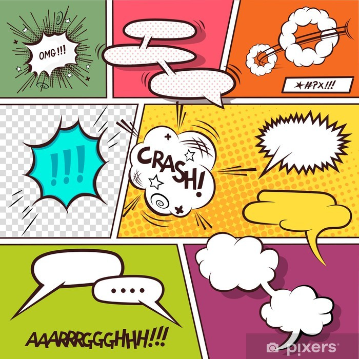 Fotomural Comic Speech Bubbles Pixers Vivimos Para Cambiar