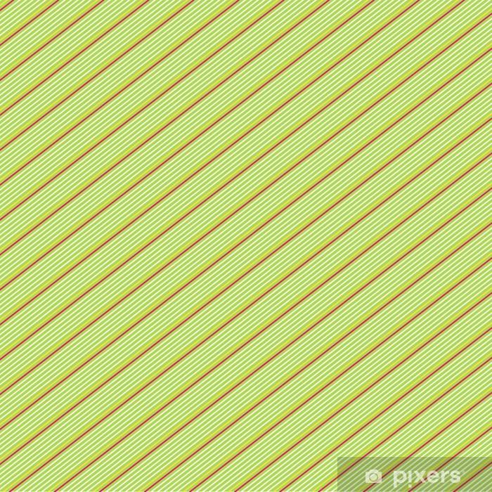 Carta Da Parati In Vinile Rosso E Bianco Gessato Diagonale Su Sfondo Verde