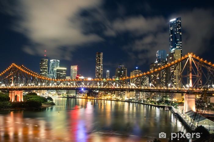 Papier peint vinyle Brisbane la nuit - Thèmes