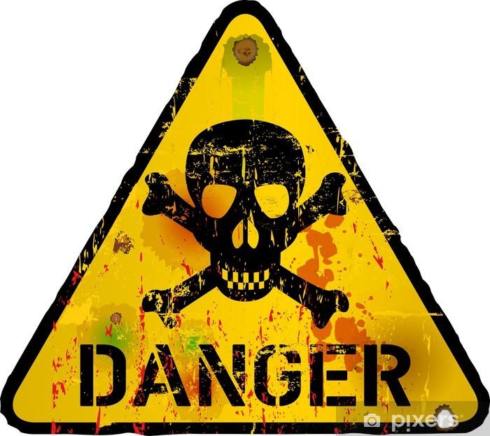 Naklejka Pixerstick Niebezpieczeństwo, znak, ostrzeżenie / znak zakazu, wektor - Życie