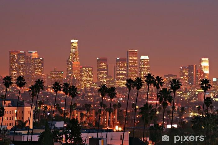 Los Angeles Skyline Vinyl Wall Mural - Themes