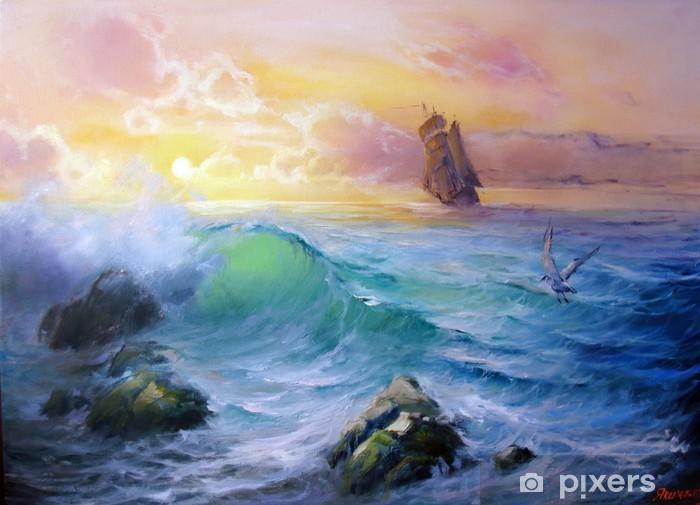 Carta da Parati in Vinile Navigare calda - Acqua