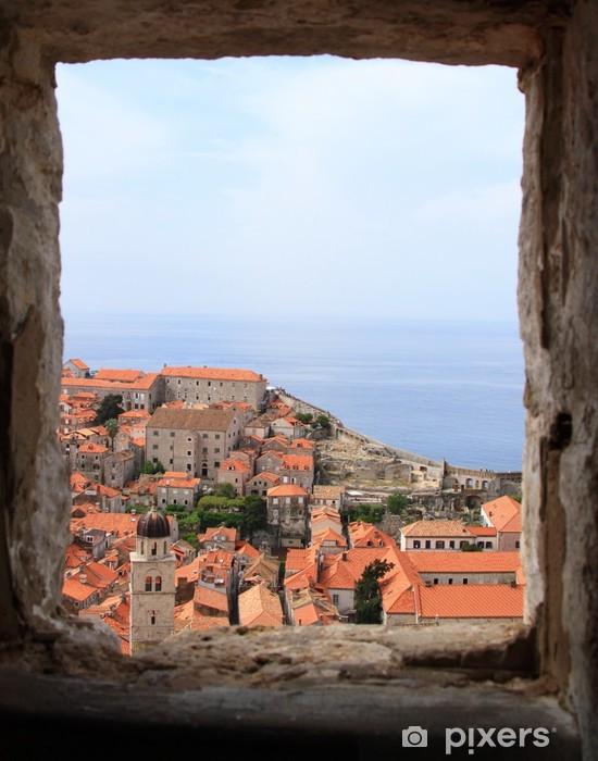 Fototapeta winylowa Pejzaż z Dubrownika widziana z okna, Chorwacja - Europa