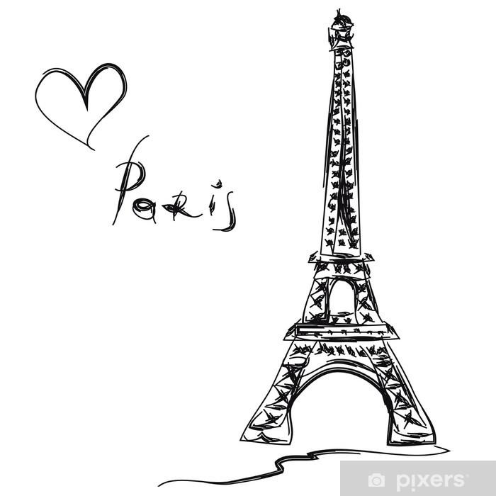 Papier peint vinyle Eiffel tower - Thèmes