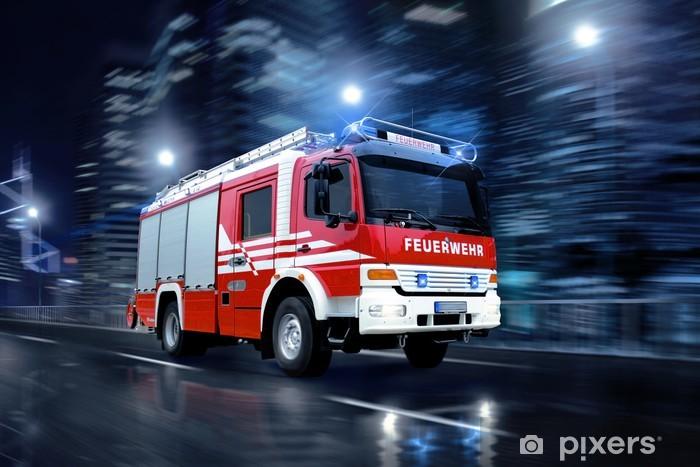 Papier peint vinyle Les pompiers en action - Métiers