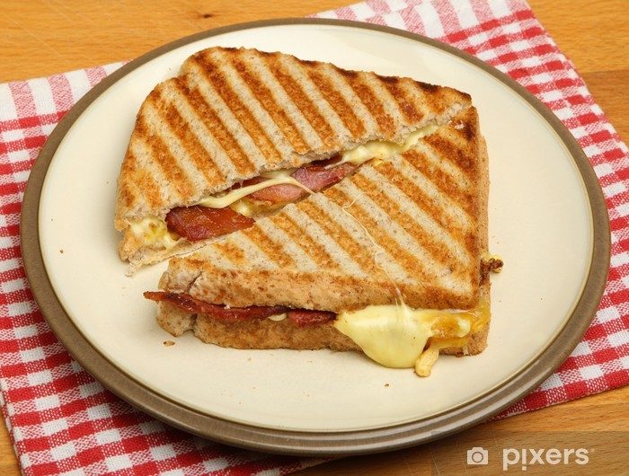 Toasted Sandwich with Bacon, Egg & Cheese Vinyl Wall Mural - Rice