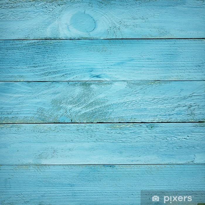 Sticker Pixerstick Peint en bleu planches en bois texture - Thèmes