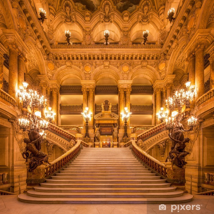 Naklejka Pixerstick Treppenhaus in der Oper - Tematy