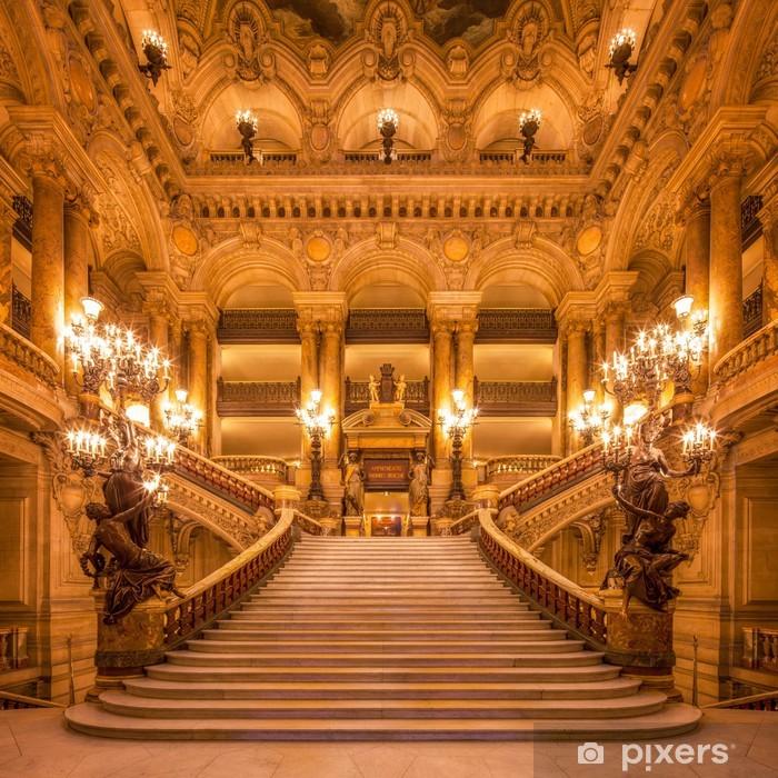 Plakat Treppenhaus in der Oper - Tematy