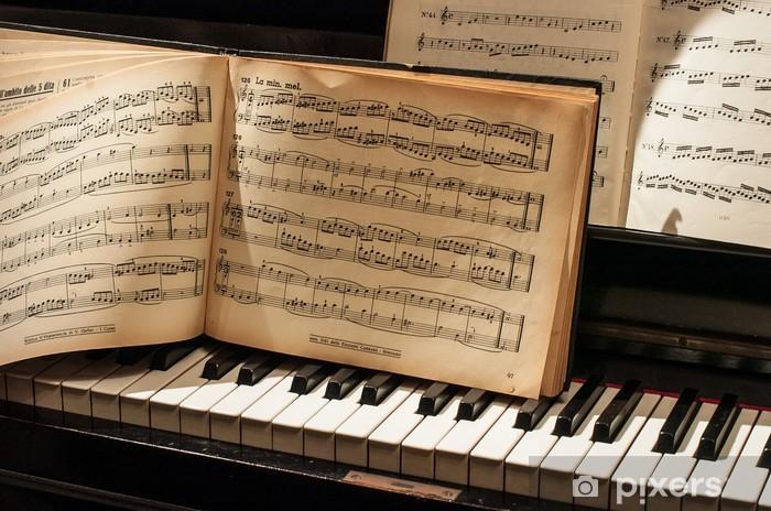 Papier peint vinyle Piano et de musique - Musique