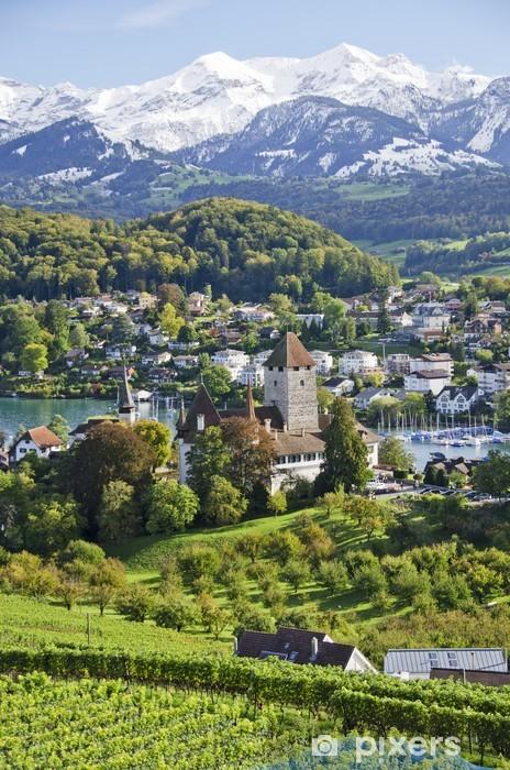 Nálepka Pixerstick Spiez, Švýcarsko - Hory