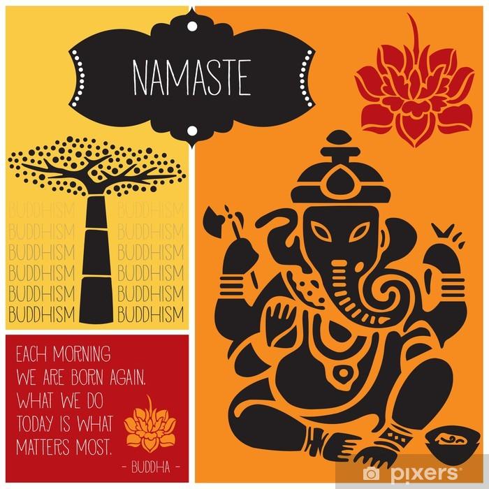 Papier peint vinyle Ganesha namaste bouddhisme illustration vectorielle - Religion