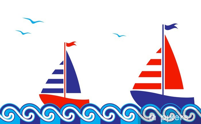 nautical border Pixerstick Sticker - Holidays