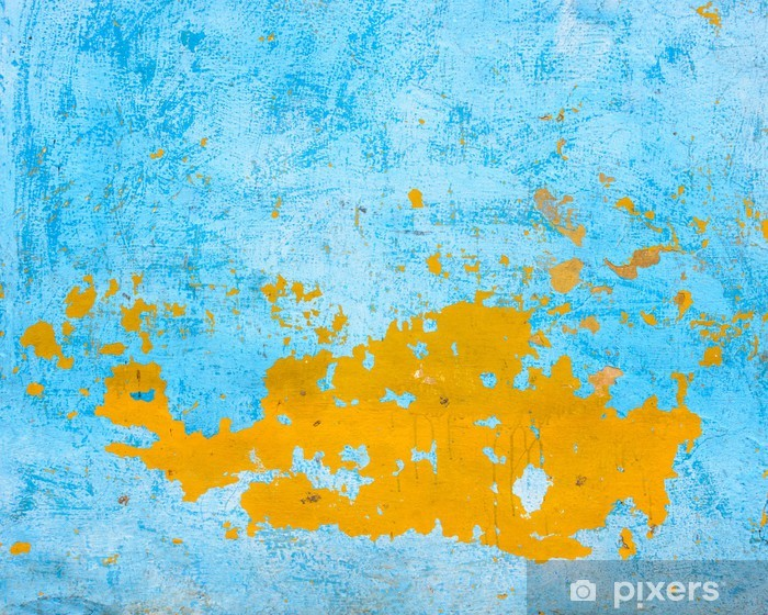Papier Peint Bleu Et Orange Texture Du Mur Pixers Nous Vivons