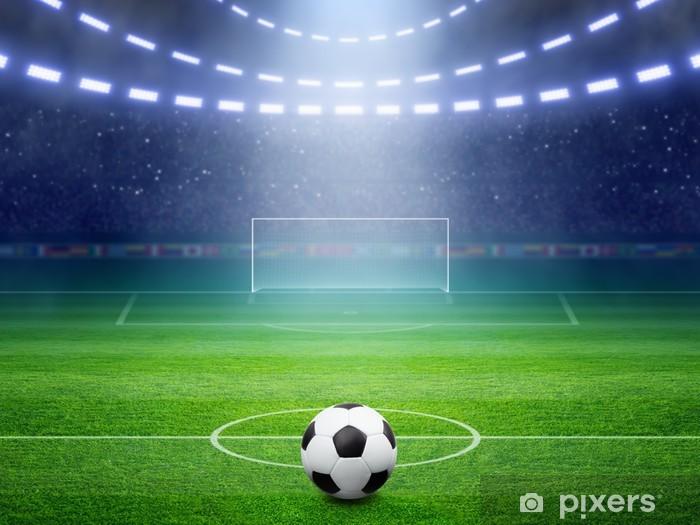Fototapeta winylowa Stadion piłkarski - Przeznaczenia