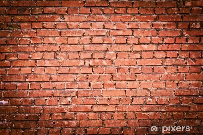 A Red Old Brick Masonry Vinyl Wall Mural Themes