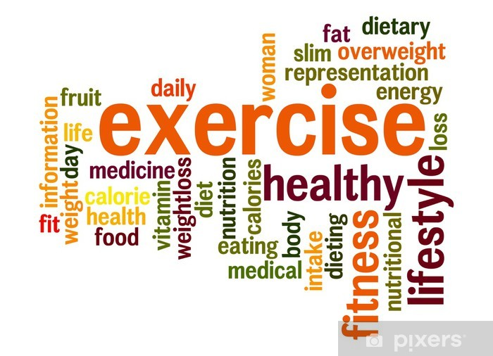 Exercise Word Cloud Sticker Pixers We Live To Change