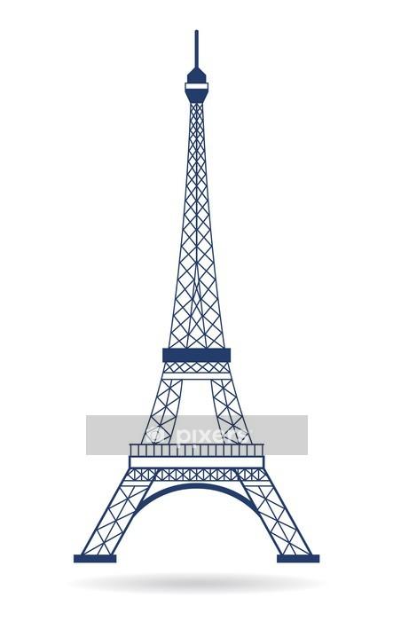 Adesivo da Parete Vector Logo Torre Eiffel - Monumenti