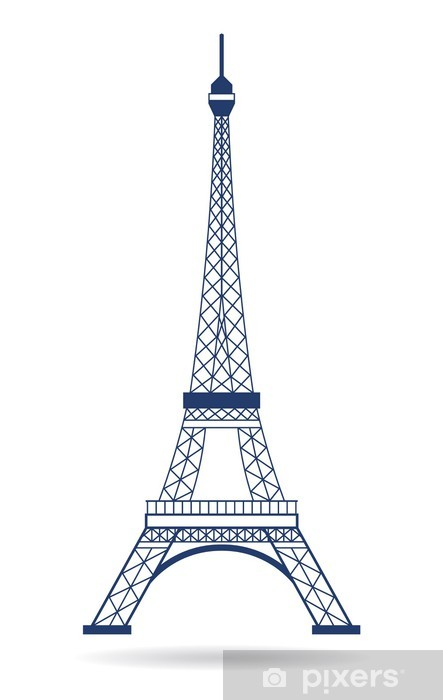 vector logo eiffel tower wall mural pixers we live to change vector logo eiffel tower wall mural pixers we live to change