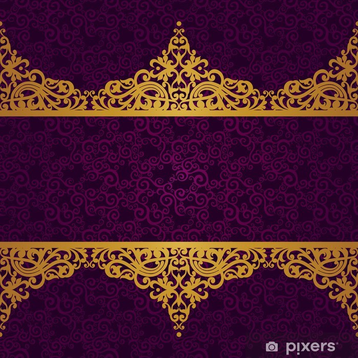 Vector seamless border in Victorian style. Vinyl Wall Mural - Signs and Symbols