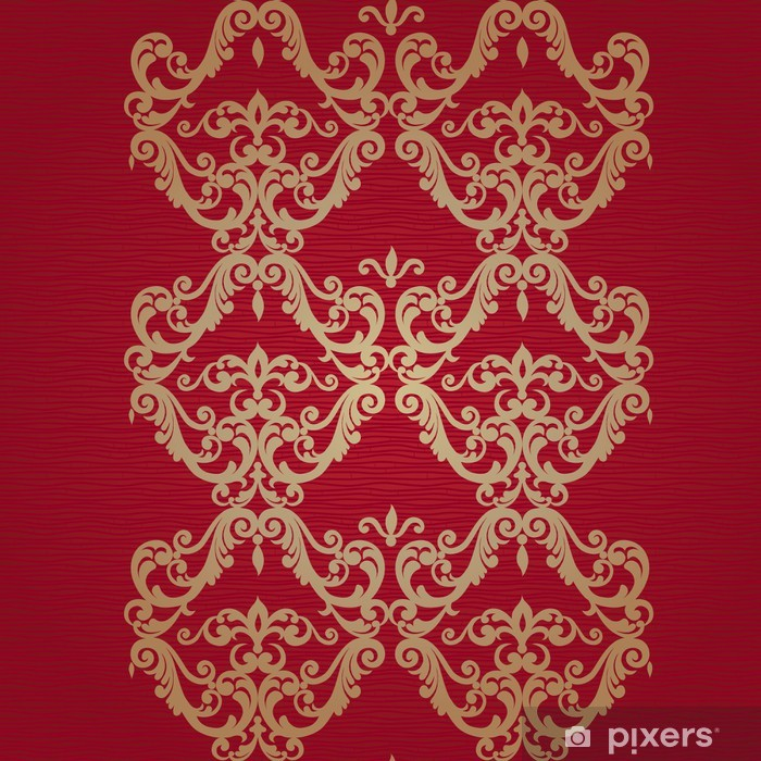 Poster Vektor nahtlose Grenze im viktorianischen Stil. - Zeichen und Symbole