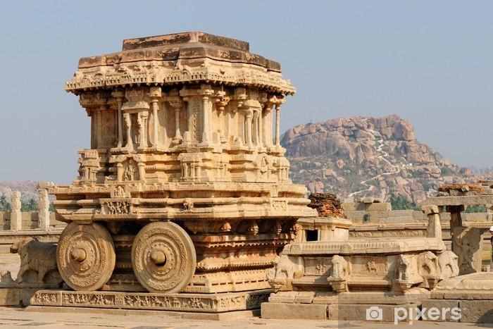 Nálepka Pixerstick Indická architektura v Hampi - Asie