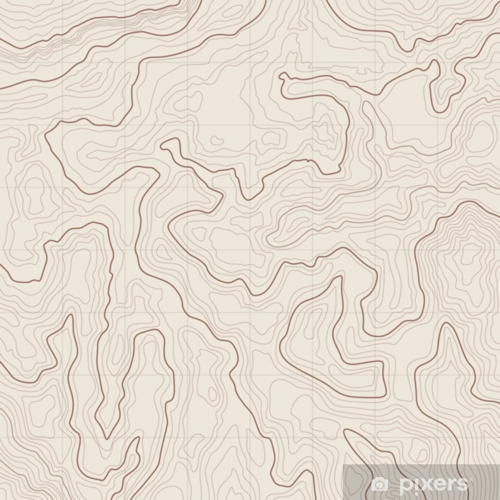 Topographic map background Pixerstick Sticker - Travel