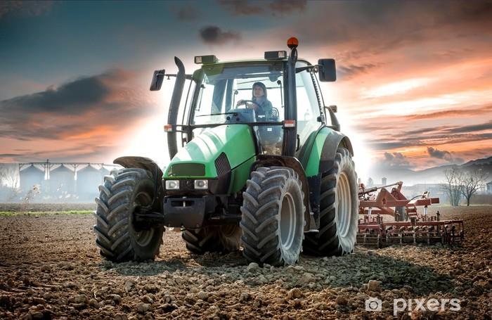 Pixerstick Aufkleber Frau mit Traktor - Themen