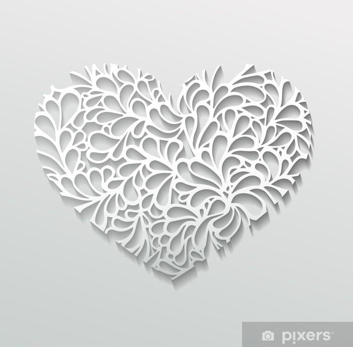 Fototapete Herz Aus Papier Pixers Wir Leben Um Zu Verändern