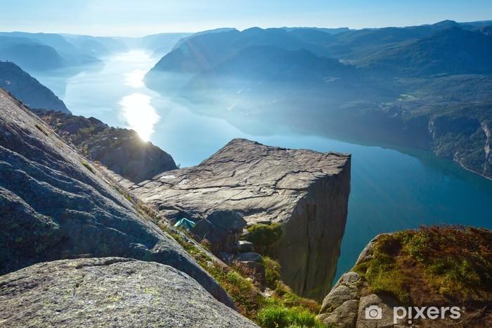 Preikestolen massive cliff top (Norway) Vinyl Wall Mural - Themes
