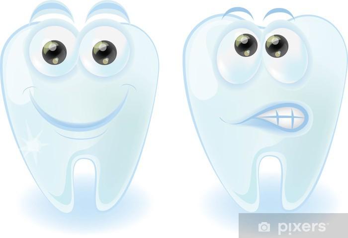 Fototapeta winylowa Cute cartoon zębów z różnych emocji - Części ciała