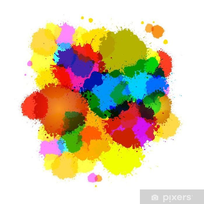 Vinyl Fotobehang Kleurrijke Vector abstracte spatten achtergrond - Thema's