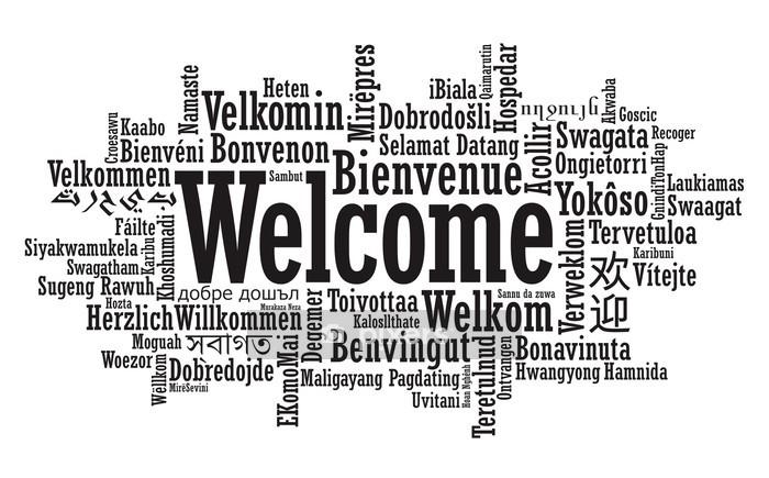 Sticker mural Bienvenue illustration Word Cloud en format vectoriel - Signes et symboles