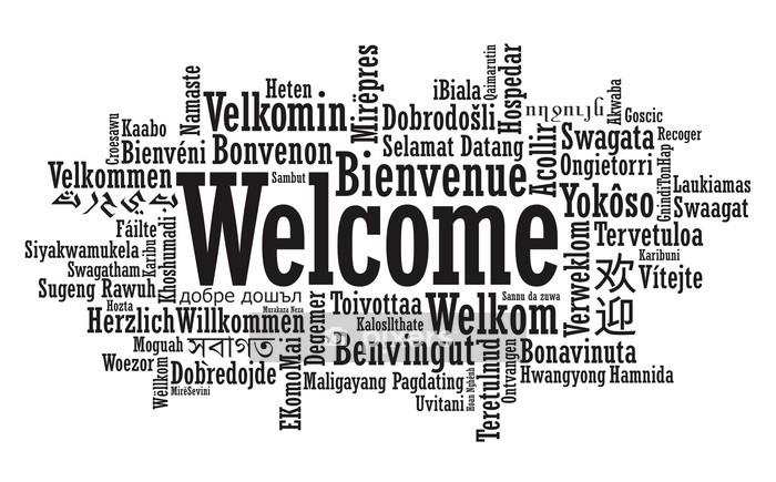 Welcome Word Cloud illustration in vector format Wall Decal - Signs and Symbols