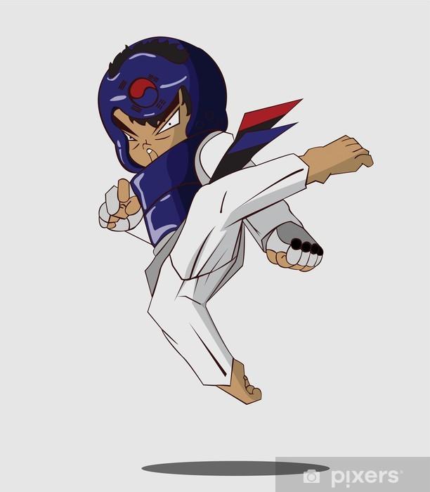 Fototapet av Vinyl Taekwondo kampsport - Teman