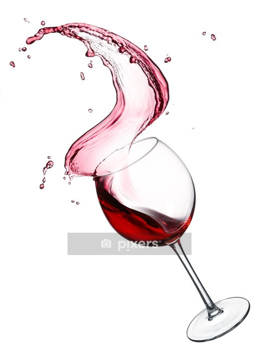 red wine splash Wall Decal - Wall decals