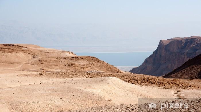 Papier peint vinyle Le désert de Judée en pierre - Moyen Orient