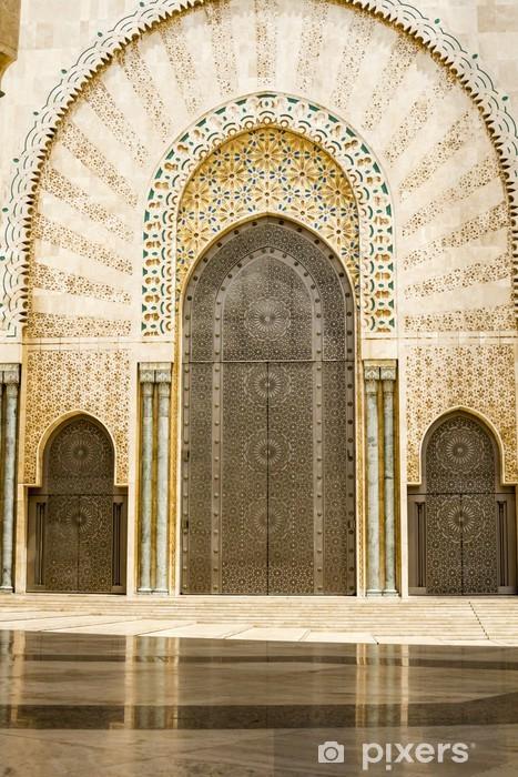 Moroccan decoration Hassan II mosque, Casablanca Morocco Vinyl Wall Mural - Africa