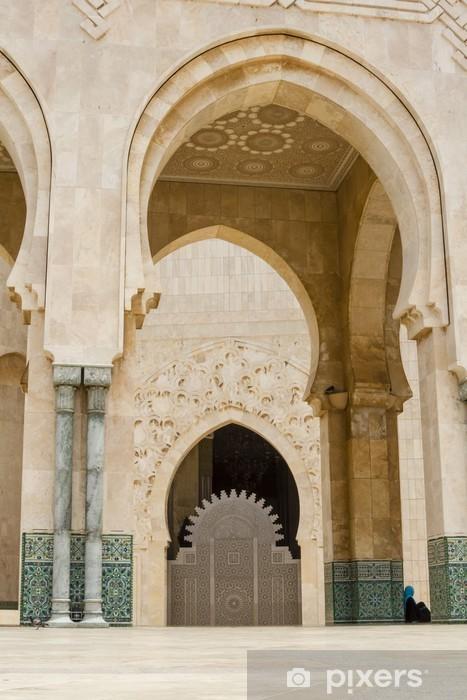Fototapeta winylowa Marokańska dekoracji Meczet Hassana II, Casablanca Maroko - Afryka